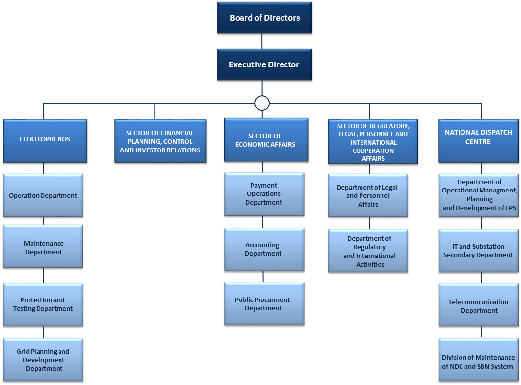 Organization chart of CGES