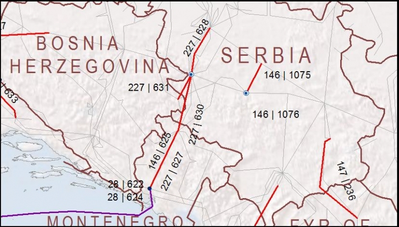 Trans-Balkan corridor section Montenegro